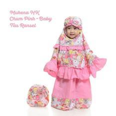Madeena – Mukena Anak Karakter HK Chum Pink Baby ( Usia 2-3 Tahun) - Tas Ransel