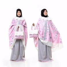 Harga Madeena Mukena Katun Jepang Ponco Shabby Renda Pink Terbaru Yang Bagus