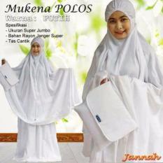 Jual Madeena Mukena Katun Rayon Jannah Jumbo Putih Polos Mukena Telekung