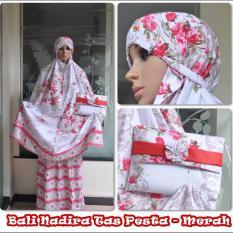 Madeena Mukena Rayon Bali Nadira Tas Pesta Merah
