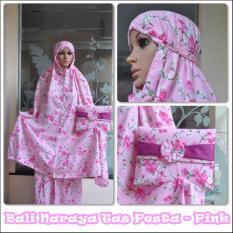 Madeena Mukena Rayon Bali Naraya Tas Pesta Pink