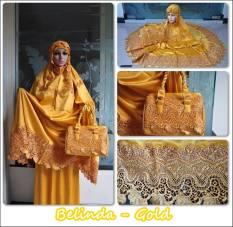 Jual Madeena Mukena Saten Silk Belinda Gold Madeena Grosir