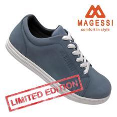 Magessi STRADA- Sepatu Casual Kulit Unisex – Bluish Grey