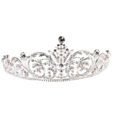 Promo Magideal Wedding Bridal Crystal Rhinestone Flower Vine Pattern Crown Tiara Headband Intl