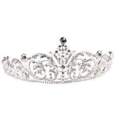 Spesifikasi Magideal Wedding Bridal Crystal Rhinestone Flower Vine Pattern Crown Tiara Headband Intl Murah Berkualitas