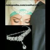 Mahkota Pengantin Hiasan Kepala Aksesoris Hijab Confusion Diskon 50