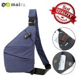 Harga Mairu 2186 Tas Selempang Pria Anti Maling Import Messenger Sling Bag Anti Air 2018 Fino Model Online