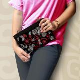 Review Makara Dompet Selempang Wanita Best Seller Pouch Hpo Midili Black Lily Makara