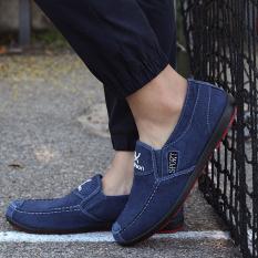 Sepatu Tods Pria Bersirkulasi Udara Trendi (Biru tua) (Biru tua)