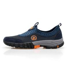 Orang Malas Sepatu Pria Musim Gugur Bernapas Sepatu Kasual Jala Biru Tua Other Diskon 50