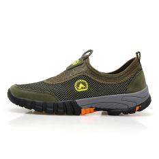 Beli Orang Malas Sepatu Pria Musim Gugur Bernapas Sepatu Kasual Jala Tentara Hijau Murah Di Tiongkok