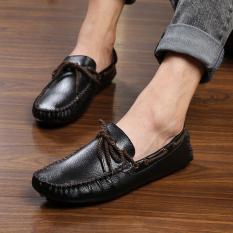 Jual Orang Malas Kasual Musim Dingin Pria Mudah Dipakai Sepatu Kulit Kacang Laki Laki Sepatu 5887 Renda Ayat Hitam Sepatu Pria Sepatu Kulit Sepatu Kerja Sepatu Formal Pria Original