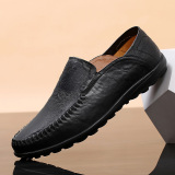 Ulasan Orang Malas Sepatu Kulit Kasual Sepatu Pria Kulit Pria Musim Panas 1887 Hitam