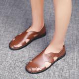 Beli Orang Malas Pria Tergelincir Baru Musim Panas Sepatu Santai Baotou Sandal Summer Kuning Online Murah