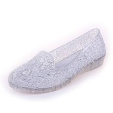 Malas plastik baru musim panas wanita sandal (Perak)