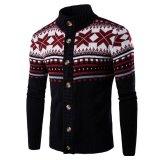 Review Pria Christmas Cardigan Sweater Musim Dingin Plus Ukuran Pria Sweater Lengan Panjang Kasual Jaket Sweter Rajut Mantel Knitwear Hitam Intl Oem