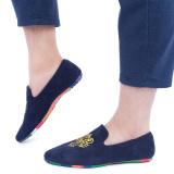 Sol Sepatu Kulit Pria Kasual Loafers Sepatu Biru Oem Diskon