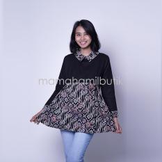 Mama Hamil Baju Hamil Atasan Hamil Menyusui Batik Lengan Panjang Batik Maria Blouse