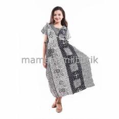 Mama Hamil Baju Hamil Daster Batik Monocrom Panjang - Hitam - Beli 3 Free 1 Pcs