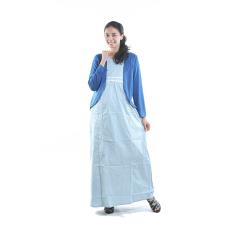 Mama Hamil Baju Hamil Gamis Menyusui Polkadot  Bolero - Biru Muda - Free 1 Celana Dalam Hamil