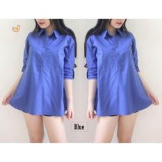 mamamia collection - kemeja wanita tunik sofie blue