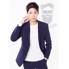 Jual Mc Marllo Man Blazer Korean Style Navy Blue Blazer Korea Blazer New Arrival Blazer Best Quality Branded