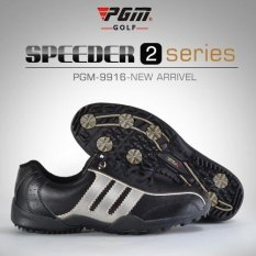 Man Fashion Sport Golf Sepatu Ukuran 39-44 Warna Hitam Perak-Intl