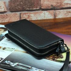 Jual Cepat Man Long Wallet Clutch Bag Multi Function Multi Card Wallet Fashio Leisure Time High Capacity Handbag Intl