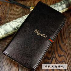 Cuci Gudang Man Long Tas Clutch Dompet Multi Fungsi Multi Dompet Kartu Fashio Waktu Luang Berkapasitas Tinggi Handbag Intl