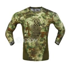 Harga Termurah Panjang Baju Kering Lengan Dia Man Man Mengenakan T Shirt Pakaian Taktis Kamuflase Ketat Kemeja Kebugaran Pelatihan Kompresi Celana