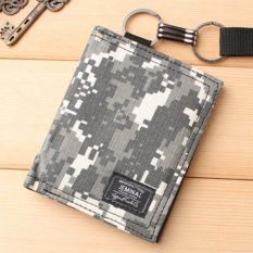 Tips Beli Man Short Camouflage Wallet Creative Personality Doodle Man Wallet Retro Youth Student Leisure Simple Fashion Intl Yang Bagus