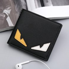 Man Short Monster Dompet Multi Dompet Kartu Bisnis Retro Korea Gaya Tipis Youth Siswa Leisure Simple Fashion Kartun Intl Original