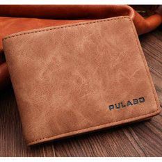 Harga Man Short Wallet Multi Wallet Card Business Soft Leather Retro Korean Thin Style Youth Student Leisure Simple Fashion Intl Origin