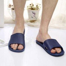 Ongkos Kirim Man Stripe Flat Bath Sandal Musim Hot Sandal Indoor Outdoor Sandal Intl Di Tiongkok
