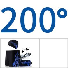 Pria Celana Renang + Cap Ukuran Besar Yang Nyaman Baju Renang Fashion Renang Peralatan (Kacamata dengan Miopia Derajat)-Intl