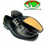 Harga Mandiens Md701 Sepatu Kulit Asli Pantofel Pria Pdh Tali Hitam Merk Mandiens