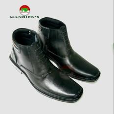 Harga Termurah Mandiens Pdh 03 B Sepatu Boots Pria Bahan Kulit Asli Hitam