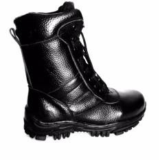 Beli Mandiens Pdl Tni Mil Sepatu Boots Pria Kulit Asli Model Jatah Tni Hitam Lengkap