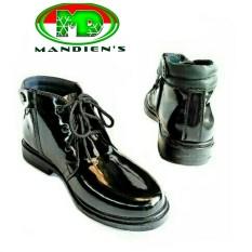 Mandiens - Sepatu Pria Pantofel Super Kilat TNI POLRI PDH R.04 (Hitam)