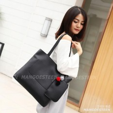 Mangoesteen Tas Wanita Tote Bag - FLORA Tas Cantik Gratis Dompet & Gantungan Korea