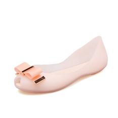 2019 model baru Sepatu jelly musim panas mulut ikan manis Dasi kupu-kupu plastik transparan