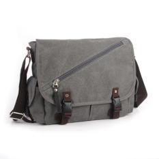 Spesifikasi Manjianghong Tas Selempang Pria Vintage Gray Paling Bagus