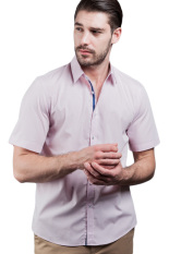 Harga Manly Slim Fit Plain Shirt With Combination Pink Asli Manly