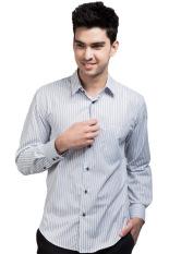 Ongkos Kirim Manly Slim Fit Striped Shirt Putih Di Indonesia
