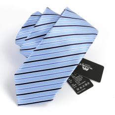 Beli Manoble Korean Stylish Men S Ties 2016 New Casual 7Cm Silk Ties Striped Slim Tie Fashion Men Business Neckties Skinny Neck Tie Gift Box Blue Intl Dengan Kartu Kredit