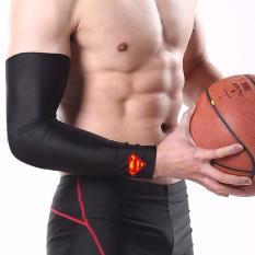 Spesifikasi Manset Pelindung Tangan Bola Basket Elbow Support Superheroes Superman Hitam Lengkap