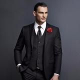 Manzone Setelan Jas Elegant Untuk Pria Glossy Hitam Manzone Diskon 50