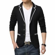 Spesifikasi Manzone Blazer Korea Casual Modern Style Hitam Yg Baik