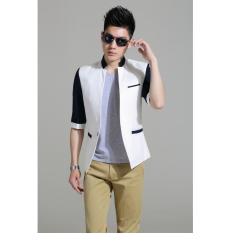 Jual Manzone Blazer Pria Exclusive Slimfit Elegant Putih Antik