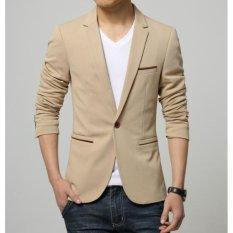 Spesifikasi Manzone Fashion Men Blazer Casual Modern Style Cream Beserta Harganya